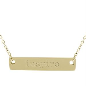 Picture of Gold 'Inspire' Bar Necklace - 16""